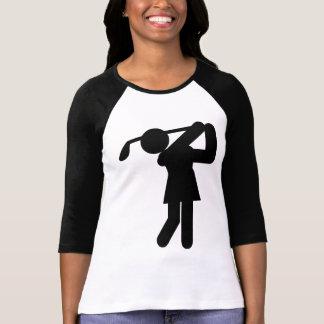 Golfista de la mujer - símbolo Golfing Playeras