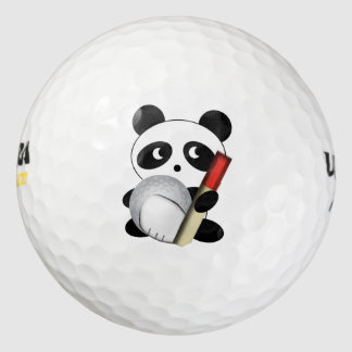Golfista de la panda pack de pelotas de golf