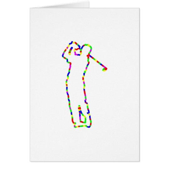 golfista de la silueta tarjeta de felicitación