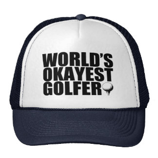 Golfista de Okayest del mundo divertido Gorras