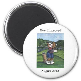 Golfista de sexo femenino imán de frigorifico