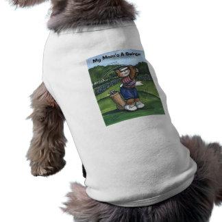 Golfista de sexo femenino camisetas mascota