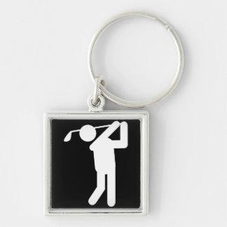 Golfista de sexo masculino - hombre Golfing Llaveros Personalizados