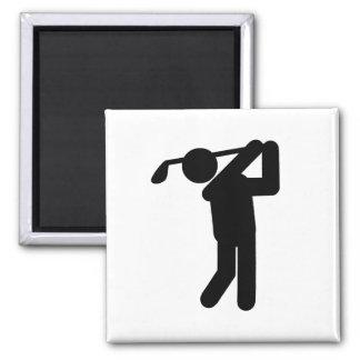 Golfista de sexo masculino - símbolo del golf imán de nevera