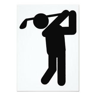 """Golfista de sexo masculino - símbolo del golf invitación 5"""" x 7"""""""
