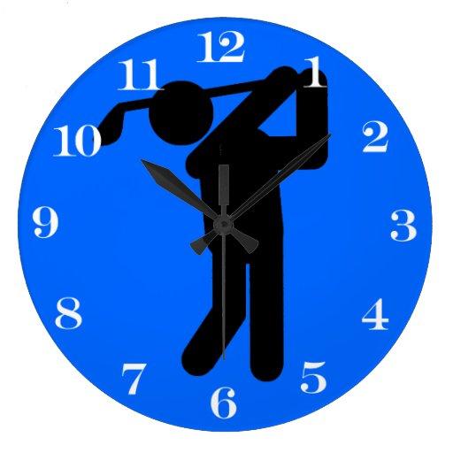 Golfista de sexo masculino - símbolo del golf reloj de pared
