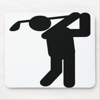 Golfista de sexo masculino - símbolo del golf alfombrillas de ratón