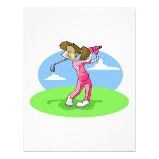 golfista del chica comunicados personales