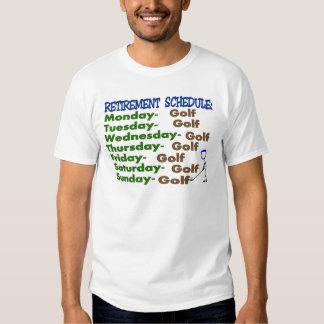 GOLFISTA del horario del retiro Camisas