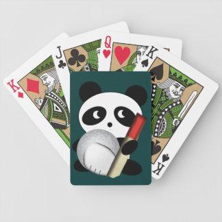 Golfista del oso de panda baraja cartas de poker