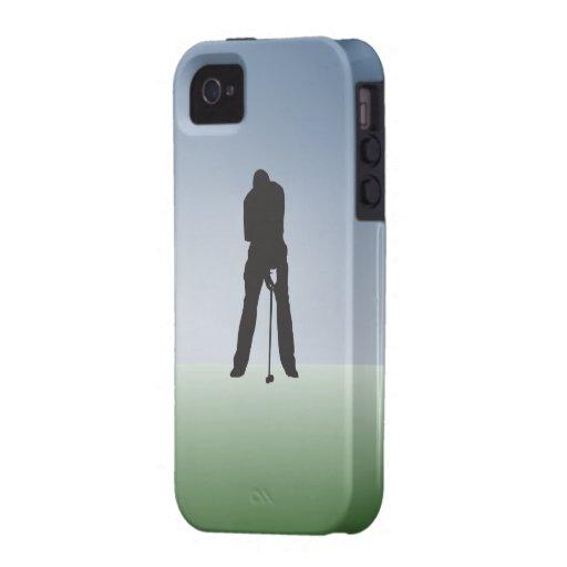 Golfista del varón del tiro de la camiseta iPhone 4/4S fundas