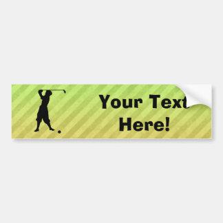 Golfista del vintage pegatina para auto