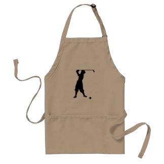 Golfista del vintage delantales