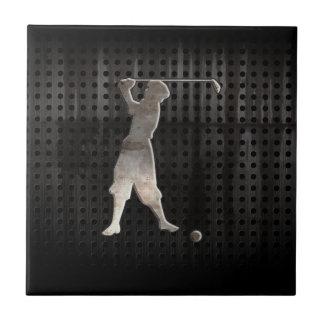 Golfista del vintage; Fresco Tejas