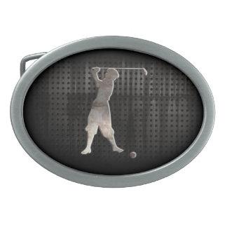 Golfista del vintage; Fresco Hebillas Cinturon Ovales