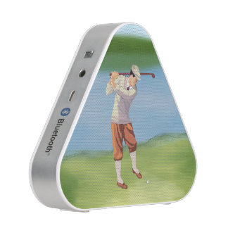 Golfista del vintage por el Riverbank Altavoz