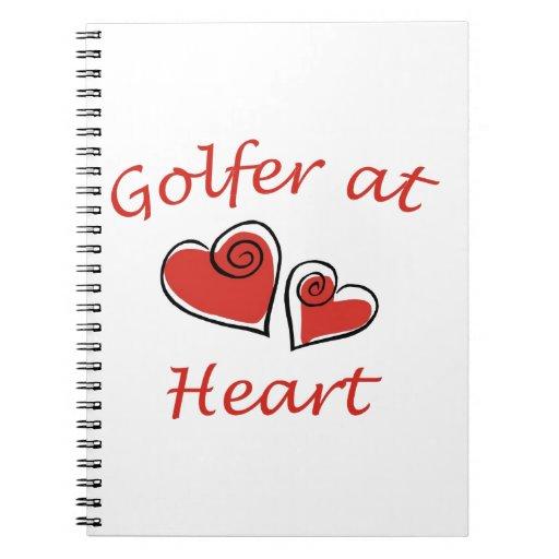 Golfista en el corazón cuaderno