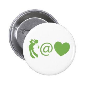 Golfista en el corazón pin