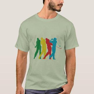 Golfista en el movimiento playera
