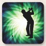Golfista fresco posavaso
