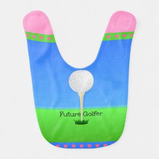 Golfista futuro - chica babero para bebé