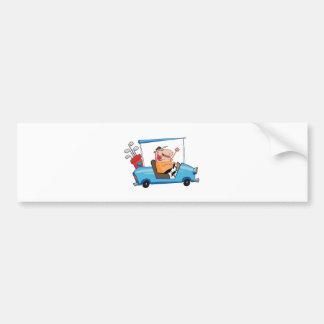 Golfista-impulsión-golf-carro Pegatina De Parachoque