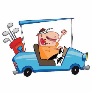 Golfista-impulsión-golf-carro Esculturas Fotograficas