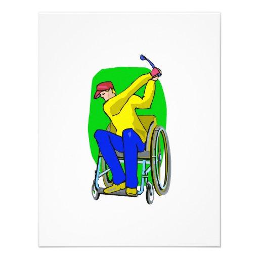 Golfista Invitacion Personal