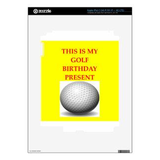 golfista iPad 3 pegatinas skins