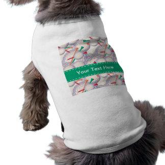 Golfista Modelo de las pelotas de golf y de las c Camisetas De Perro