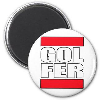 golfista para mujer para hombre del golf golfing l imán de frigorífico