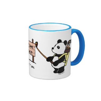 Golfista personalizado de la panda de Kawaii Taza De Dos Colores