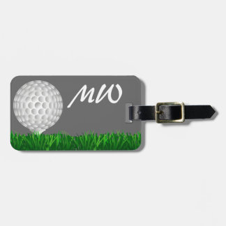 Golfista personalizado de la pelota de golf etiquetas maleta