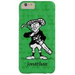 Golfista personalizado del dibujo animado del golf funda de iPhone 6 plus barely there