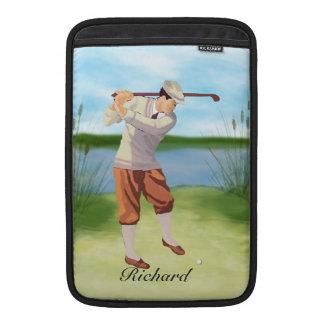 Golfista personalizado del vintage por el fundas MacBook