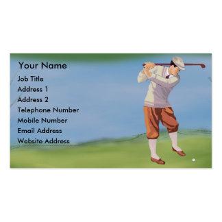 Golfista personalizado del vintage por el tarjetas de visita