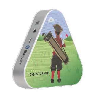 Golfista personalizado diversión en campo de golf altavoz