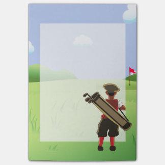 Golfista personalizado diversión en campo de golf post-it® nota