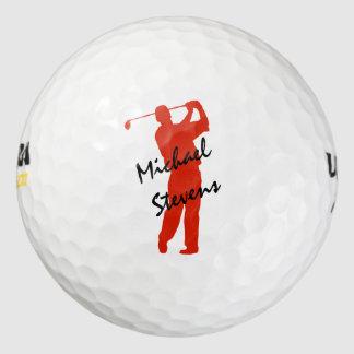 Golfista personalizado rojo pack de pelotas de golf