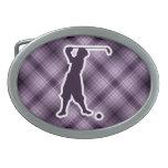 Golfista púrpura del vintage hebillas cinturón