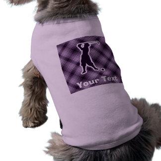 Golfista púrpura del vintage camisetas de perro