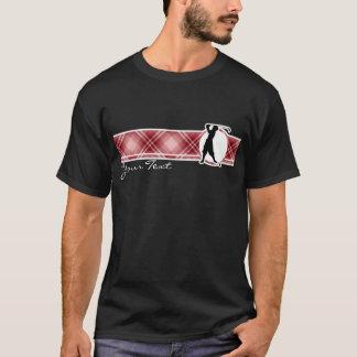 Golfista rojo del vintage de la tela escocesa playera
