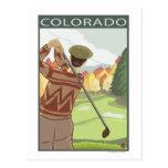 Golfista SceneColorado Postal