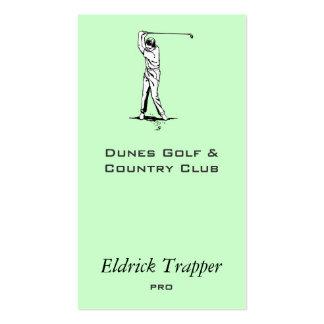 Golfista Tarjetas De Visita
