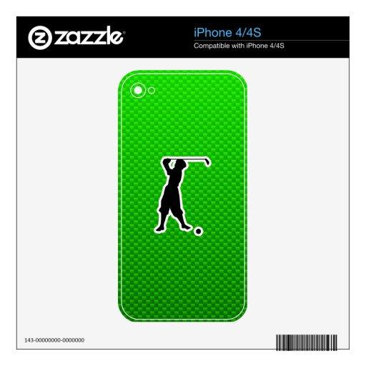 Golfista verde del vintage calcomanías para iPhone 4S