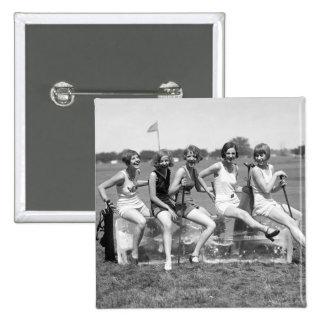 Golfistas bonitos del chica los años 20 pin