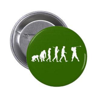 Golfistas de la evolución del golf golfing el rega pins