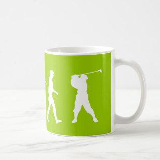 Golfistas de la evolución del golf golfing el rega taza
