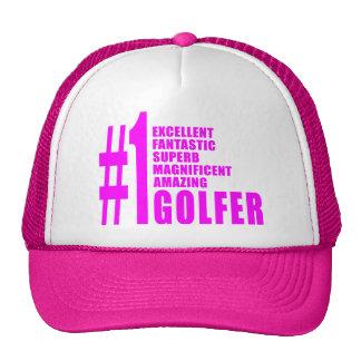 Golfistas del golf de los chicas: Golfista rosado  Gorro De Camionero