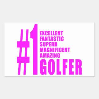Golfistas del golf de los chicas: Golfista rosado Rectangular Altavoz